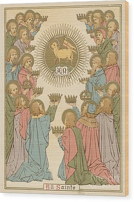 All Saints Wood Print by English School