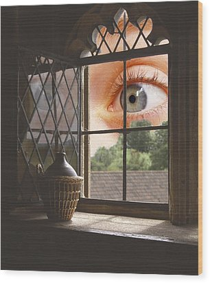 All Seeing Wood Print by Ron Harpham