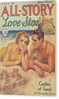 All-story 1920s Usa Holidays Love Wood Print by The Advertising Archives