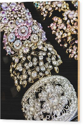 All That Glitters Wood Print by Caitlyn  Grasso
