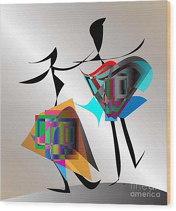 All That Jazz Wood Print by Iris Gelbart