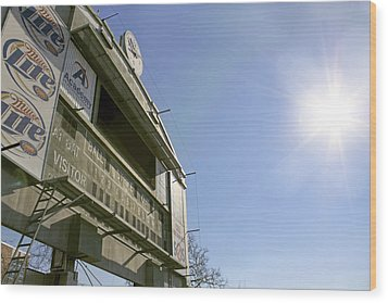 All That Remains Of Ray Winder Field Wood Print by Jason Politte