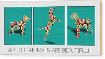 All The Animal Are Beautiful  Wood Print by Mark Ashkenazi