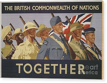 All The Commonwealth Countries Unite. Wood Print by Paul Fearn