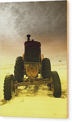 All The Feilds She Plowed Wood Print by Jeff Swan