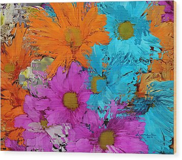 All The Flower Petals In This World 2 Wood Print by Kume Bryant