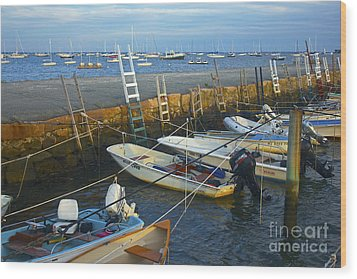 All Tied Up In Mattapoisett Wood Print by Amazing Jules