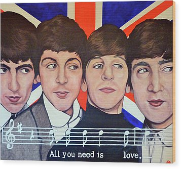 All You Need Is Love  Wood Print by Tom Roderick