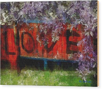 All You Need Is... Wood Print by RC deWinter