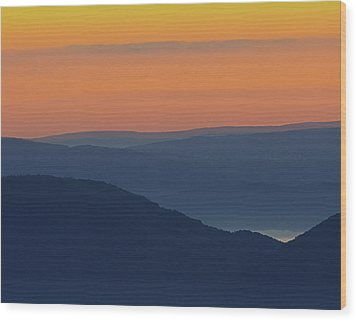 Allegheny Mountain Morning Wood Print