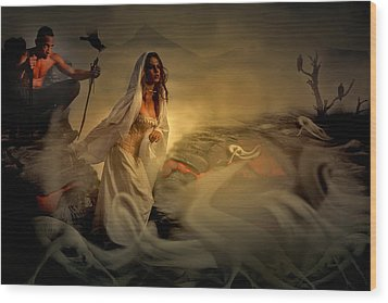 Wood Print featuring the digital art Allegory Fantasy Art by Galen Valle
