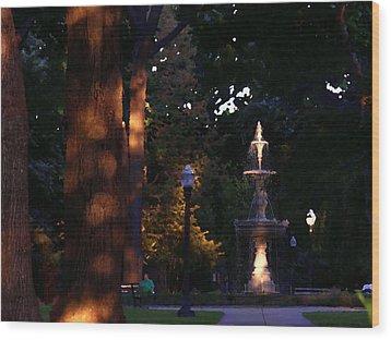 Allentown Pa Dusk At West Park Wood Print by Jacqueline M Lewis