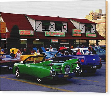 Allentown Pa Meetin' At The Ritz Wood Print by Jacqueline M Lewis