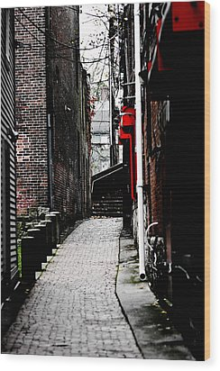Alley Wood Print by Allan Millora