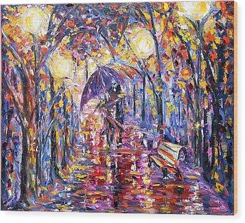 Alley Of Love Wood Print
