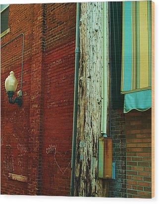 Alley Wood Print by Steven Stutz