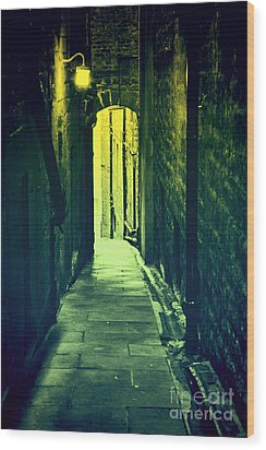 Wood Print featuring the photograph Alleyway by Craig B
