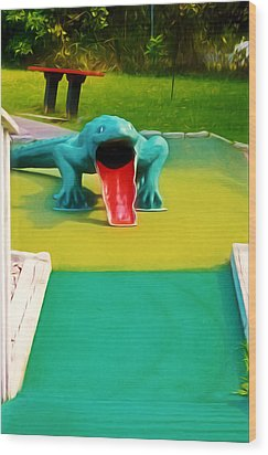 Alligator Wood Print by Lanjee Chee