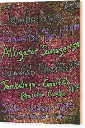 Alligator Sausage For Two Dollars 20130610p68 Wood Print