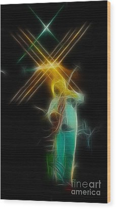Allman-dickie-95-ga14a-fractal Wood Print by Gary Gingrich Galleries