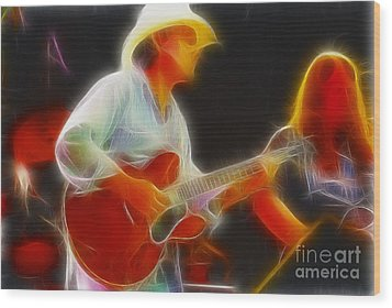 Allman-dickie-95-gc2-fractal Wood Print by Gary Gingrich Galleries