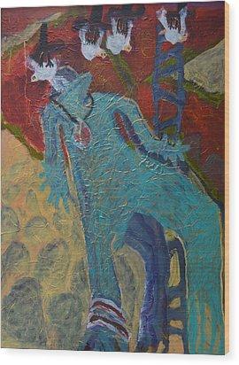 Allmarine Wood Print by Nancy Mauerman