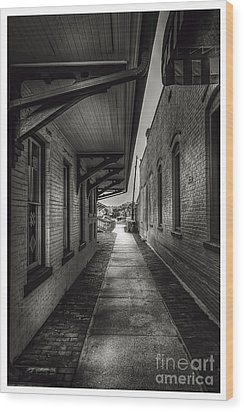 Alley To The Trains Wood Print by Marvin Spates