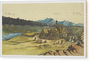 Almanna Gorge Circa 1862 Wood Print by Aged Pixel