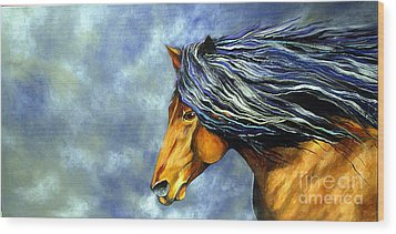Wood Print featuring the painting Almanzors Glissando  by Alison Caltrider