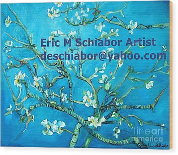 Almond Blossom Branches Wood Print by Eric  Schiabor