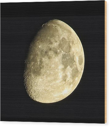 Wood Print featuring the photograph Almost Blue Moon by Nikki McInnes