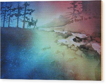 Wood Print featuring the painting Almost Home by John  Svenson