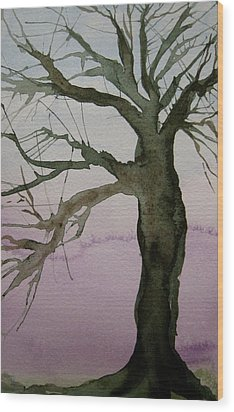 Wood Print featuring the painting Almost Spring by Beverley Harper Tinsley