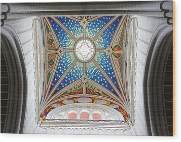 Almudena Cathedral Interior Wood Print by Jenny Hudson
