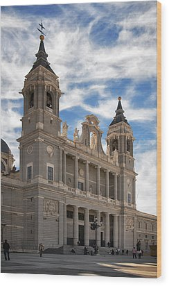 Almudena Cathedral Wood Print by Joan Carroll
