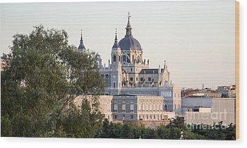 Almudena Church Madrid Wood Print