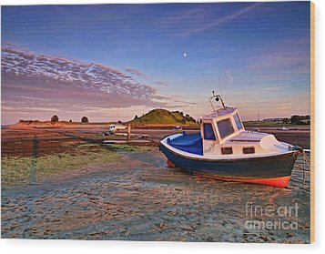 Alnmouth At Sunset Wood Print