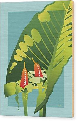 Alocasia Wood Print