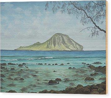 Aloha Kakahiaka Manana Wood Print by Wallace Kong
