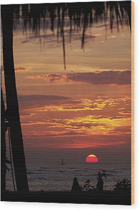 Aloha Wood Print by Karen Wiles