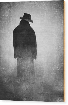 Alone In The Fog 2 Wood Print by Gun Legler