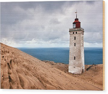 Lighthouse On The Sand Hils Wood Print
