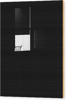Alone Wood Print by Newel Hunter