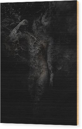 Alone With Her Thoughts Wood Print by David Fox