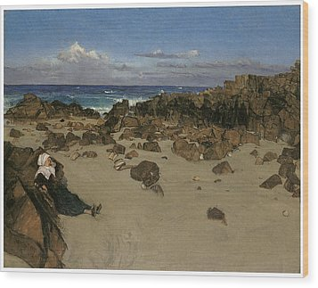 Alone With The Tide Wood Print by James Abbott McNeill Whistler