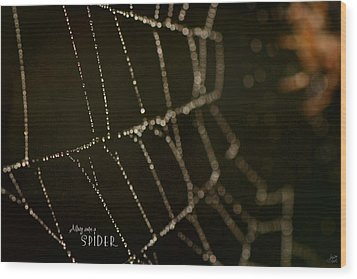 Along Came A Spider Wood Print by Lisa Knechtel