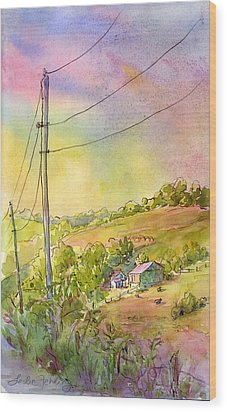 Along Craynes Run Road Wood Print by Leslie Fehling