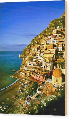Along The Amalfi Coast Wood Print