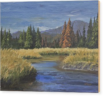 Along The Big Thompson Wood Print by Bev Finger