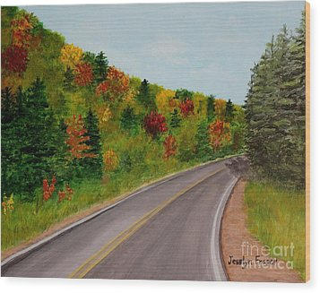 Along The Cabot Trail Wood Print